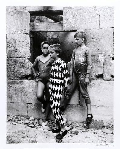 Lucien Clergue, 'Trio de Saltimbanques, Arles', 1955