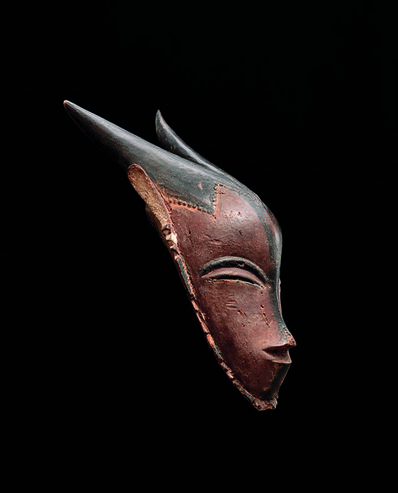 'Masque gu avec cornes (Gu Mask with horns)', 19th century