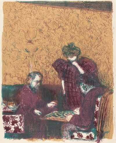 Édouard Vuillard, 'Game of Checkers (La partie de dames)', 1897/1898 (published 1899)
