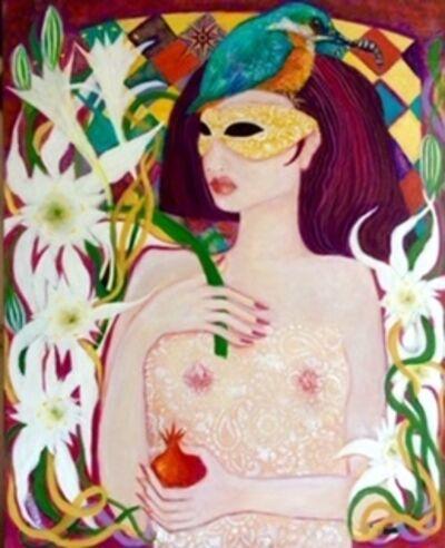Laila Shawa, 'Goddess with Kingfisher', 2017
