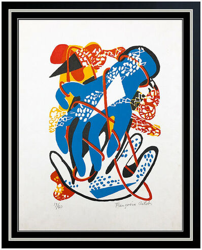 Françoise Gilot, 'Francoise Gilot Color Lithograph Hand Signed Sur La Pierre Modern Abstract Art', 1972