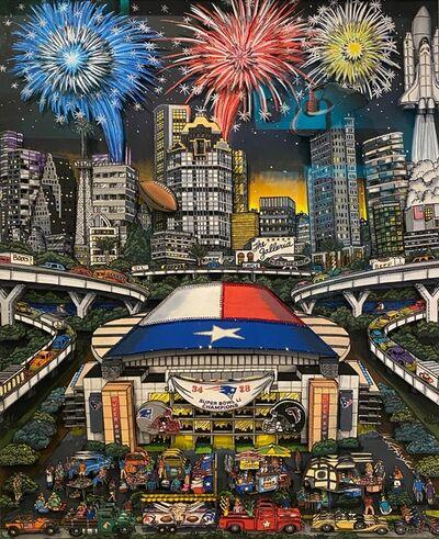 Charles Fazzino, 'Super Bowl Night in Houston, LI ', 2017