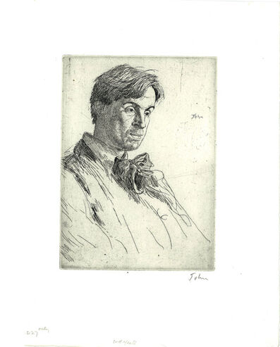 Augustus John, 'William Butler Yeats', 1907