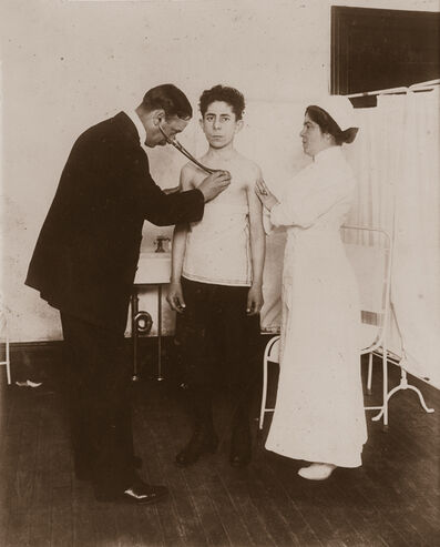 Lewis Wickes Hine, 'Board of Health Examination of Applicant for Ability to Work', ca. 1913