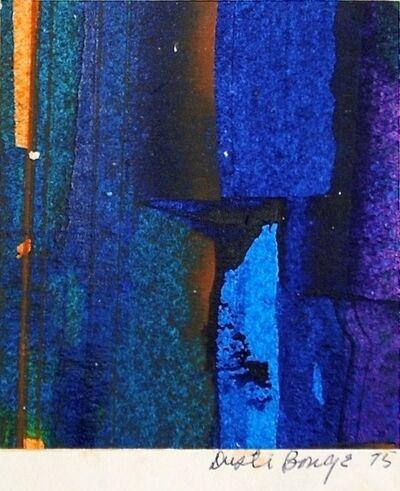 Dusti Bongé, 'Untitled (Blue, Black, and Purple Abstract)', 1975