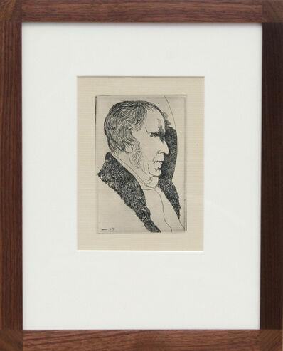 Leonard Baskin, 'Portrait of a Man', 1969