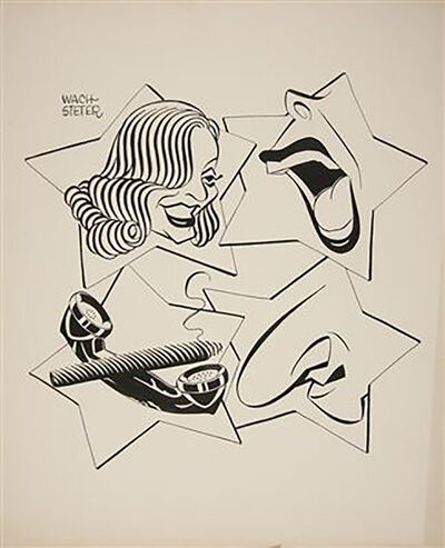 """George Wachsteter, 'Caricature for 1952-53 Broadcast Season of the """"All-Star Revue""""', 1952"""