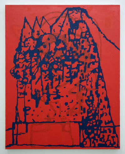 EJ Hauser, 'mountain dwellers (red)', 2017