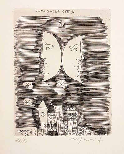 Franco Rognoni, 'Moon on the City', 1960