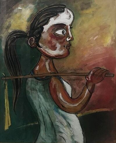"""Paritosh Sen, 'Untitled, Mixed Media on Board by Modern Indian Artist """"In Stock""""', 1990-2007"""
