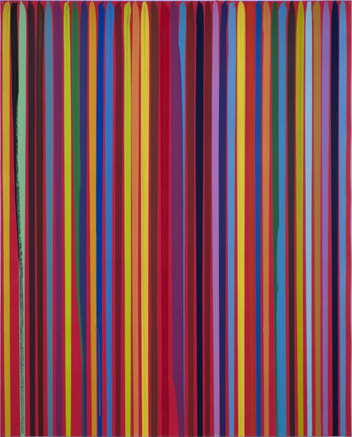 Ian Davenport, 'Poured Lines: Signal Red', 2012