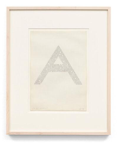 Ruth Wolf-Rehfeldt, 'A wie Arsen ', 1972