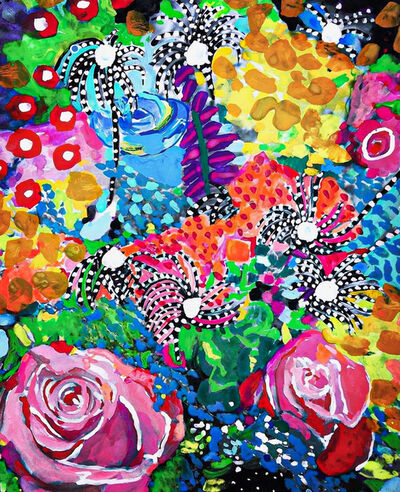 Andee Axe, 'Vibrant Flowers ', 2020