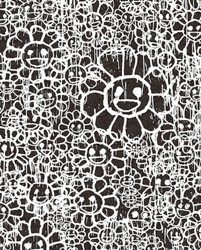 Takashi Murakami, 'FLOWERS C BLACK BY MADSAKI X TAKASHI MURAKAMI', 2017