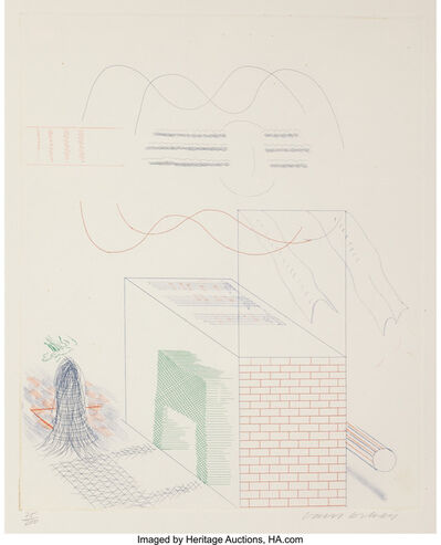David Hockney, 'The Buzzing of the Blue Guitar', 1976-77