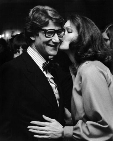 Ron Galella, 'Yves Saint-Laurent and Lois Chiles at the Hotel Pierre, New York City', 1974