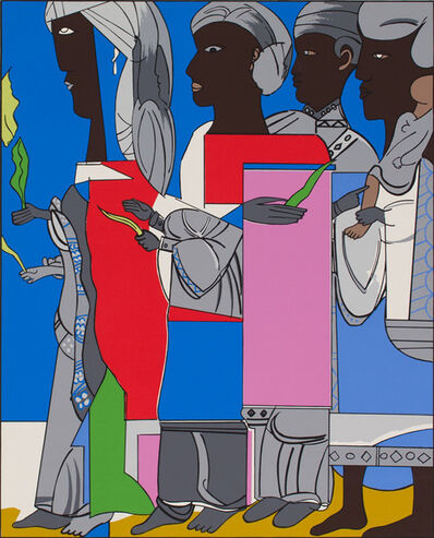 Romare Bearden, 'EASTER PROCESSION', 1979