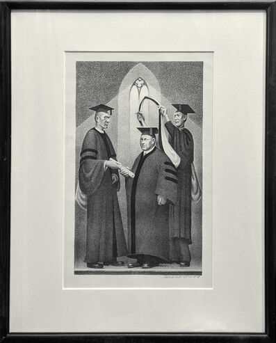 Grant Wood, 'HONORARY DEGREE', 1938