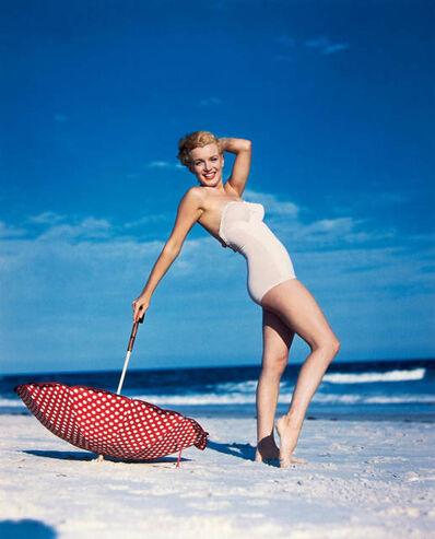 André de Dienes, 'Marilyn with umbrella ', 1949