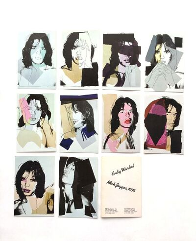 Andy Warhol, 'Mick Jagger mini-postcard portfolio of 10 numbered cards ', 1975