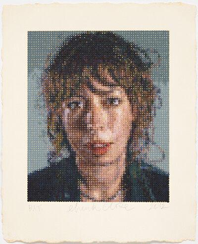 Chuck Close, 'Cecily', 2012