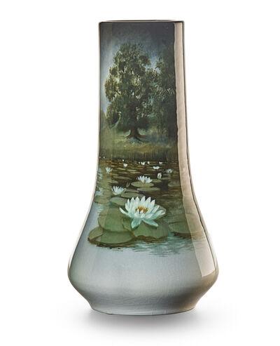 Carl Schmidt, 'Fine Iris Glaze vase depicting pond with water lilies, Cincinnati, OH', 1908