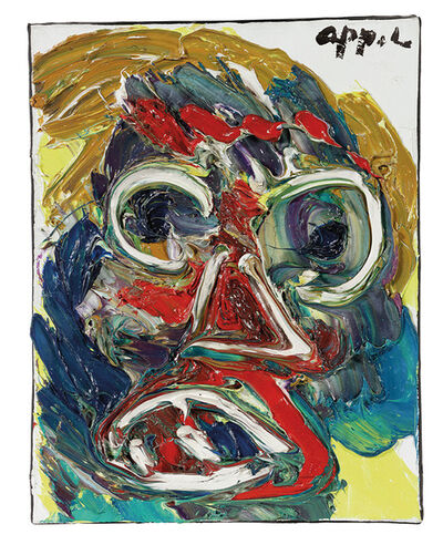 Karel Appel, 'Grimmig Gezicht (Grim Face)', 1976