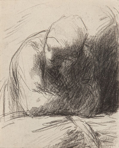 Jean-François Millet, ' Peasant Woman (the Artist's Wife) Leaning on a Sheaf of Wheat', 1850-1853
