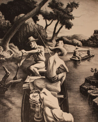 Thomas Hart Benton, 'Down the River', 1939