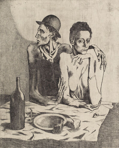 Pablo Picasso, 'Le Repas Frugal, from La suite des Saltimbanques', 1904