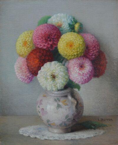 Charles Perron, 'Bouquet de Zinnias'