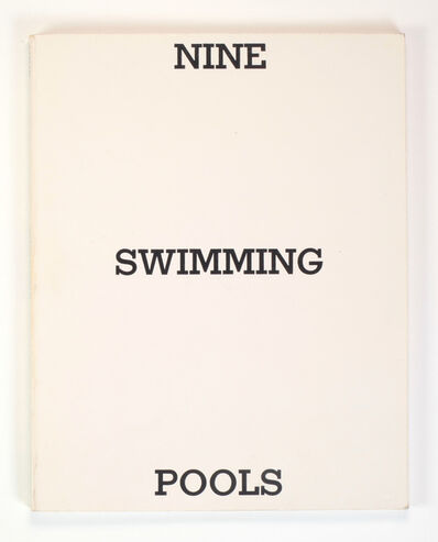 Ed Ruscha, 'NINE SWIMMING POOLS AND A BROKEN GLASS', 1968/1976