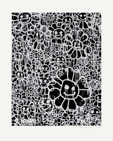 Takashi Murakami, 'Murakami x MADSAKI Flowers Black A', 2017