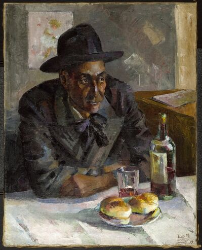 Lois Mailou Jones, 'Dans un Café à Paris (Leigh Whipper)', 1939