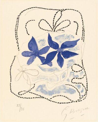 Georges Braque, 'Les deux iris bleus ', 1963