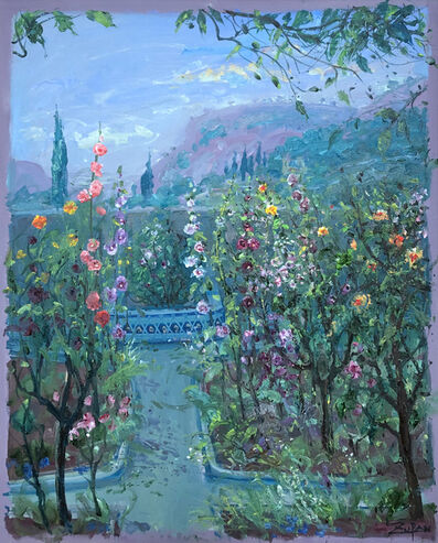 Bruno Zupan, 'Hollyhocks in Chopin's Garden', 2019
