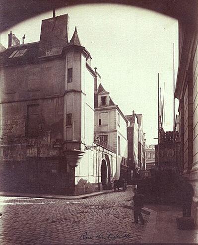 Eugène Atget, 'Rue Sarrazin, Paris [corner of Rue Hautefeuille, 6th Arrondisement]', 1898