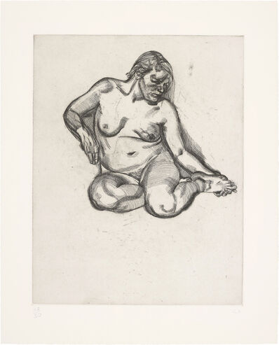 Lucian Freud, 'Girl Holding Her Foot', 1985