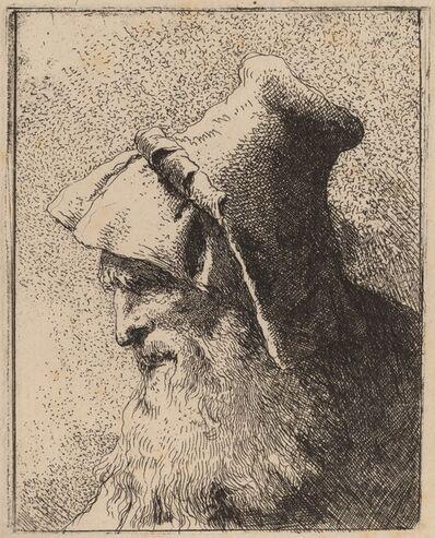 Giovanni Domenico Tiepolo, 'Profile of an Old Man with a Beard', ca. 1762
