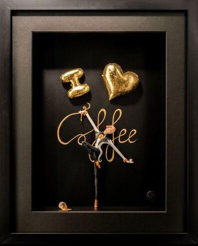 Kunst met een R, 'I love Coffee Gold - Mini', 2020