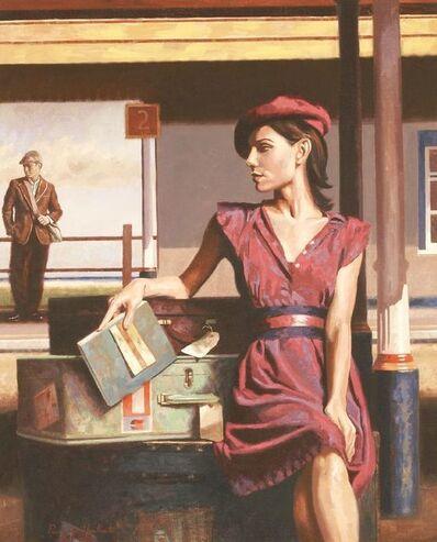 Peregrine Heathcote, 'WAITING AT THE STATION'