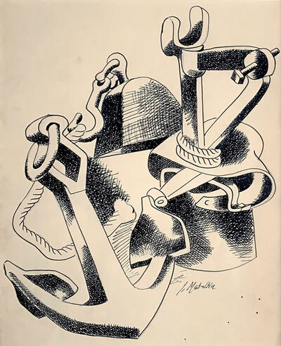 Jan Matulka, 'Untitled (Still Life with Anchor)', c. 1928