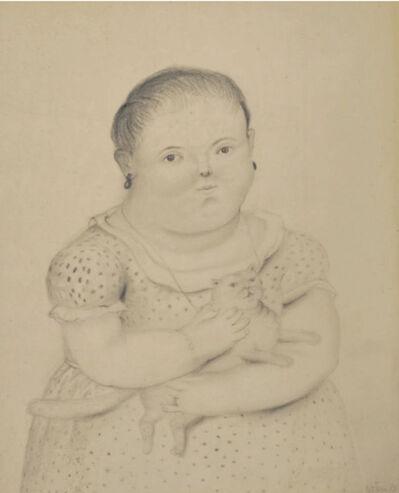 Fernando Botero, 'Petite Fille eu Chat ', 1973