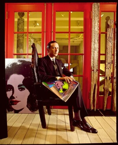 David Gamble, 'Fred Hughes in Andy Warhol's Factory with Liz Taylor Painting ', 1987