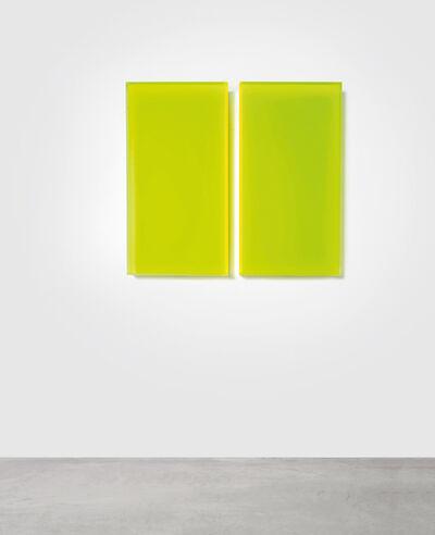 Regine Schumann, 'Color satin green Milan', 2018