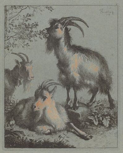 Francesco Londonio, 'Three Goats', 1758