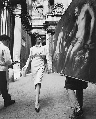 William Klein, 'Simone + painting + coffee, Rome (Vogue)', 1960