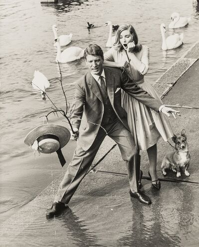 Norman Parkinson, 'Out in the Rain, Three Aquascutum Advertising Portraits featuring Tania Mallet', 1950s