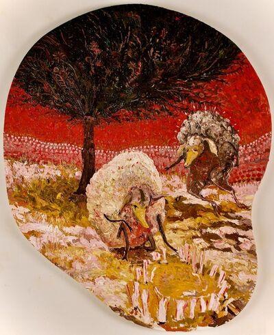 Thomas Knight, 'Sheep Arranging Deer Bones Under Juniper', 2019