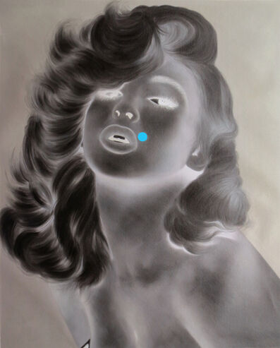 Tim Sullivan, 'White Shadow (Jayne with Blue Dot)', 2014